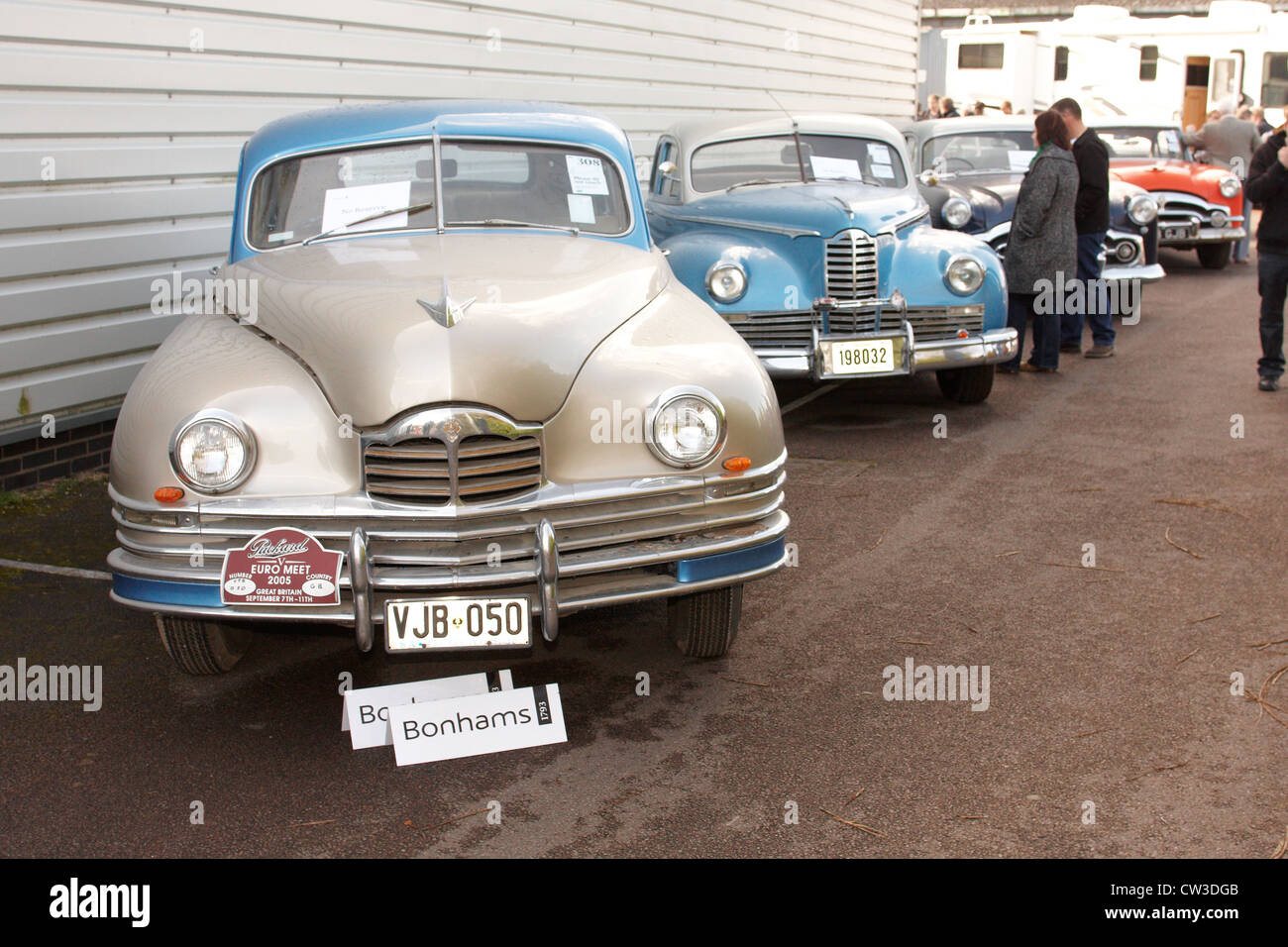 Old Cars For Sale Stock Photos Old Cars For Sale Stock: A Number Of 1940s Vintage Packard Cars Form Part Of A