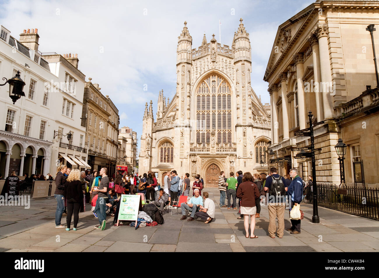 The Abbey and Roman Baths, World Heritage Site, Bath Spa city ...