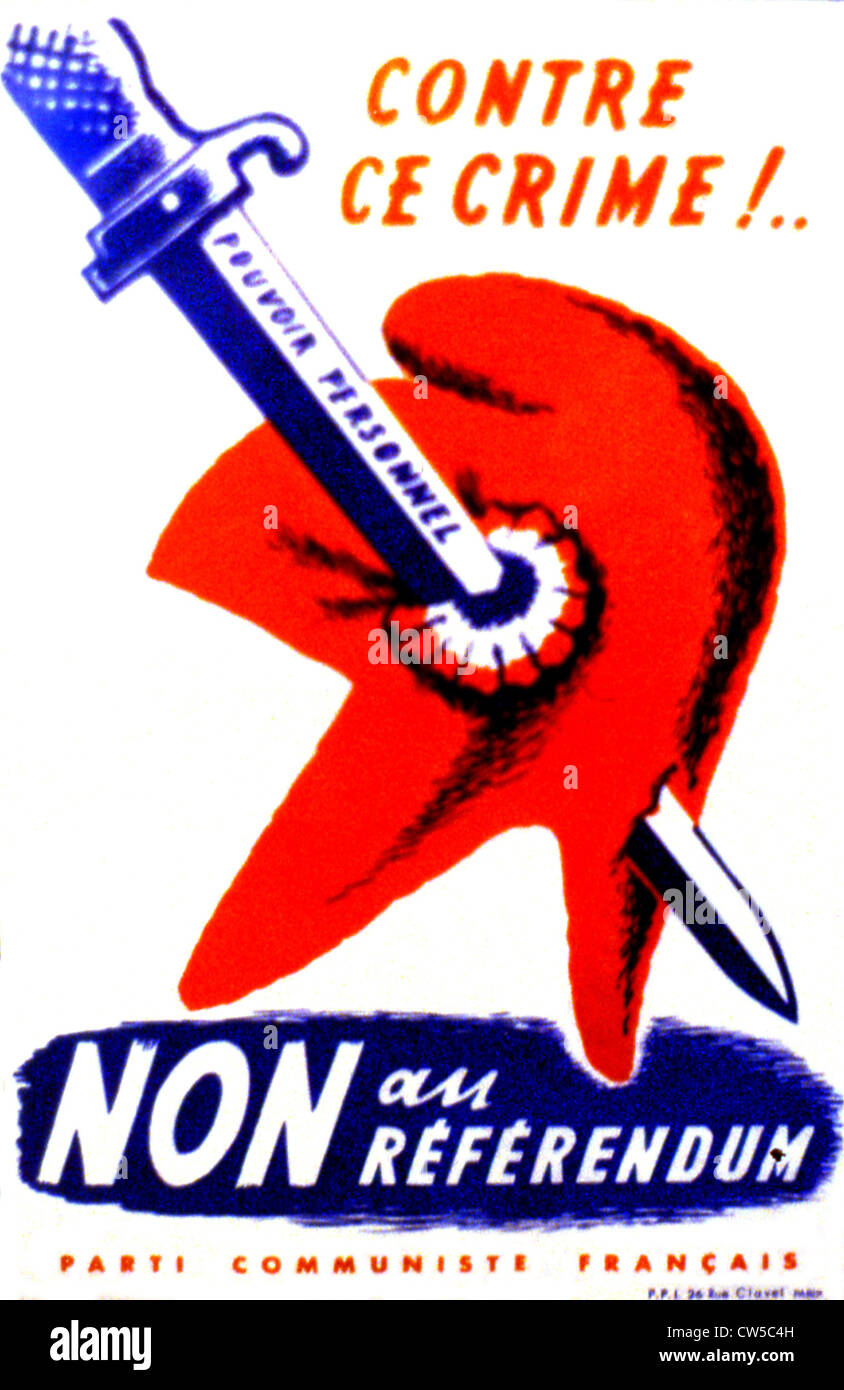 French Communist Party anti-Gaullist propaganda poster ...