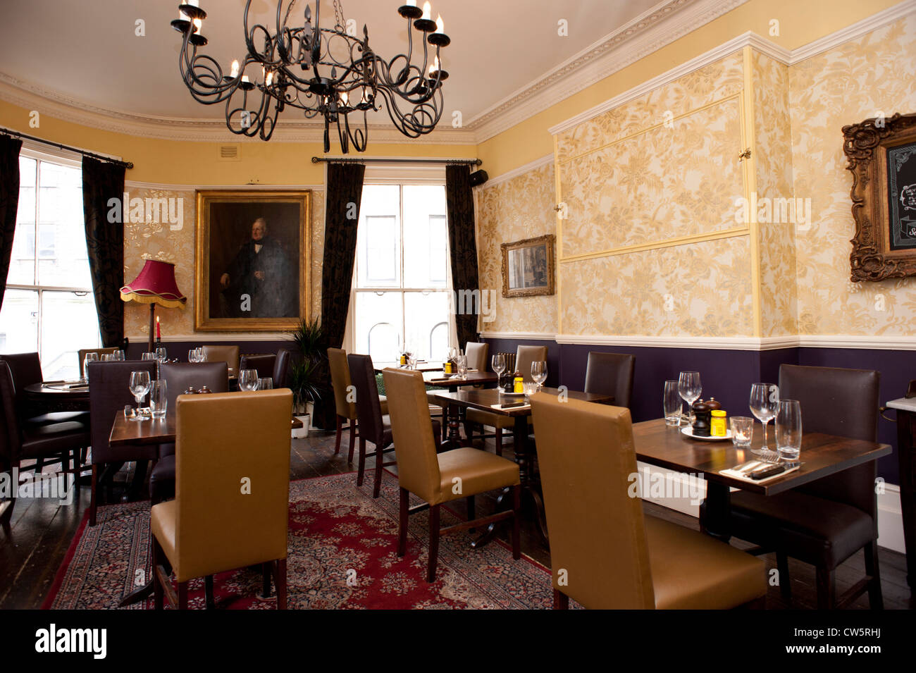 Old Pub\'s refurbished dining room ready for a private function ...
