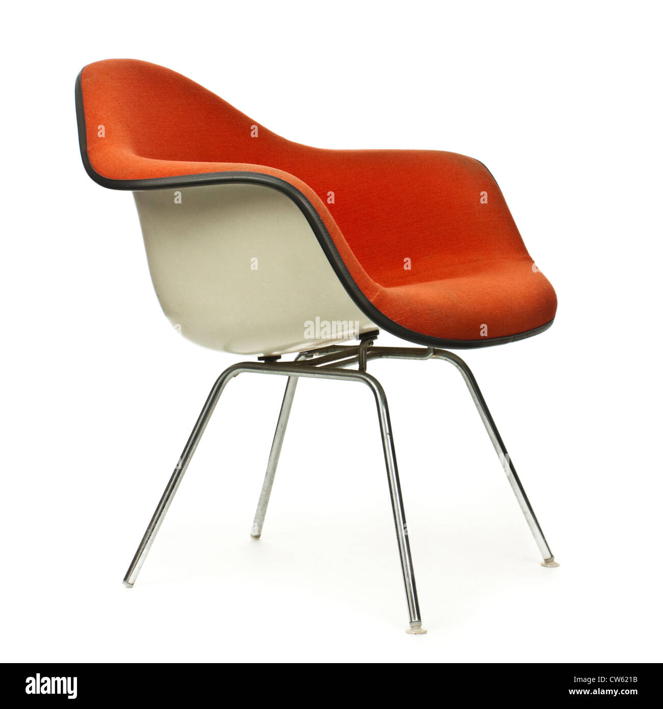 Stock Photo   Vintage 1970u0027s Herman Miller Upholstered Fibreglass Shell Office  Chair, Designed By Charles U0026 Ray Eames