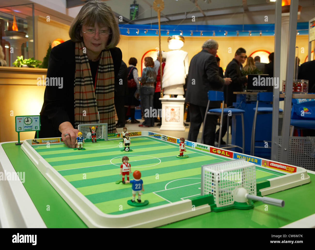 stock photo table football figures