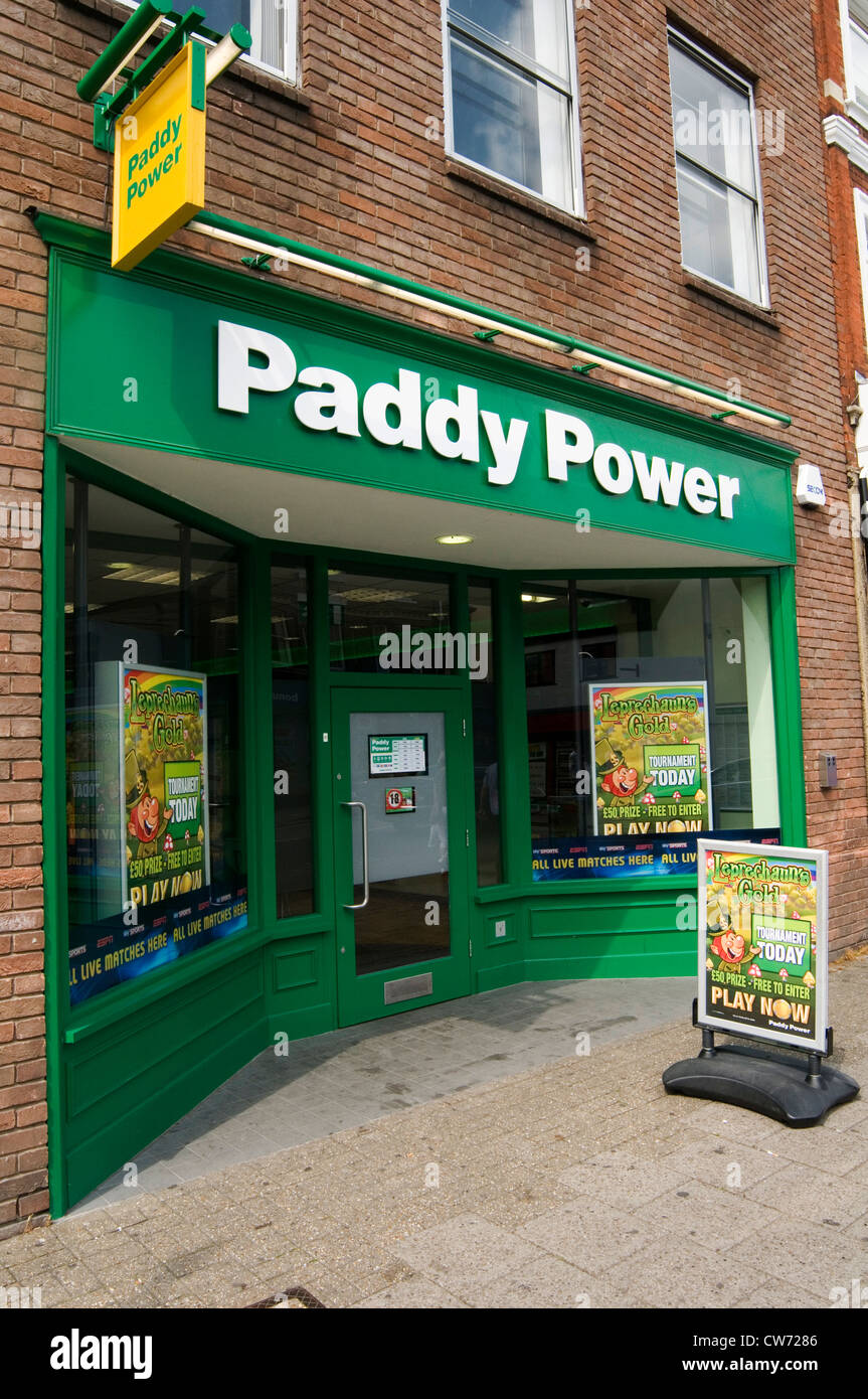 Paddy power betting shop shops highstreet uk stock image