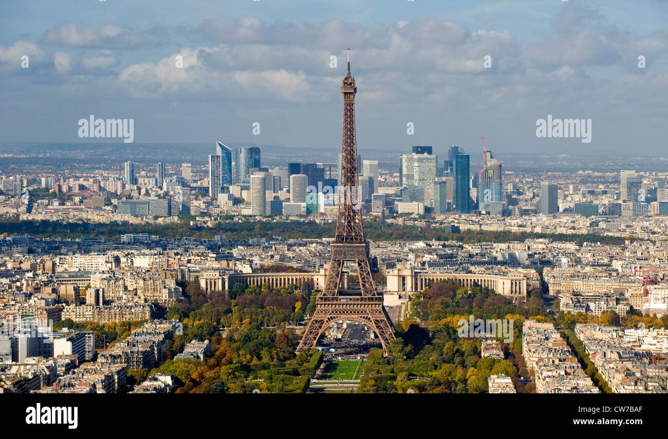City View Of Paris With Eiffel Tower, La Defense In The