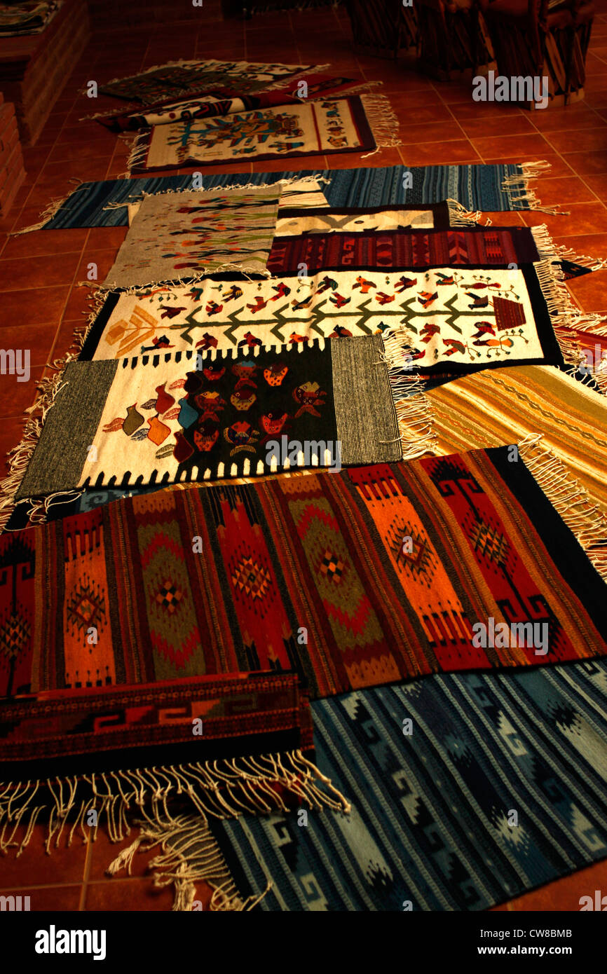 carpets with geometric designs in a weaving studio in teotitlan del valle oaxaca mexico july 8 2012 - Carpets With Designs