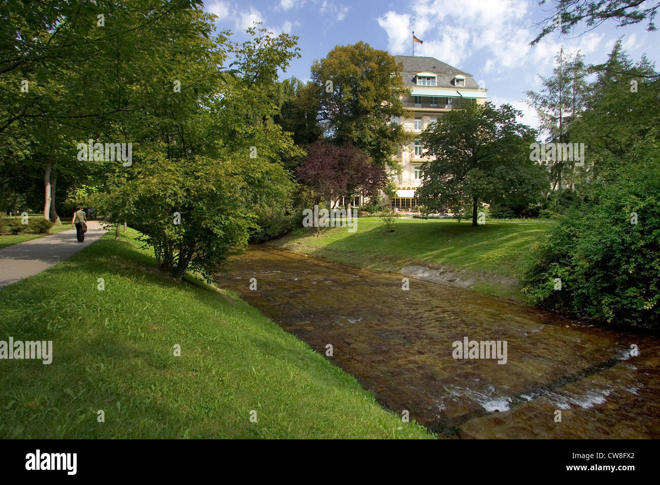 baden baden overlooking the oos and the brenner 39 s park hotel in the stock photo royalty free. Black Bedroom Furniture Sets. Home Design Ideas
