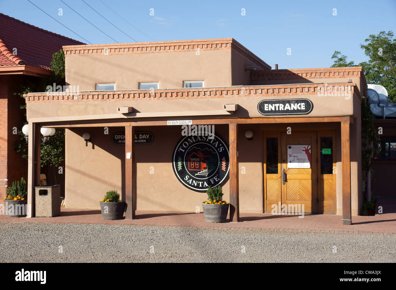 tomasitas restaurant santa fe nm new mexico cafe seventh 7th place stock photo royalty free. Black Bedroom Furniture Sets. Home Design Ideas