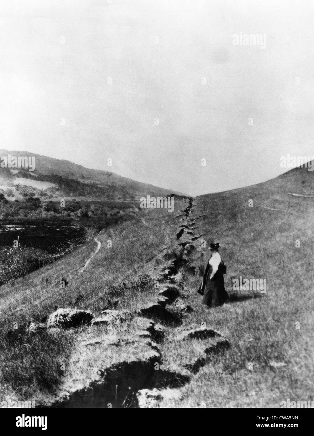 The San Andreas fault in Olema, California after the 1906 ...