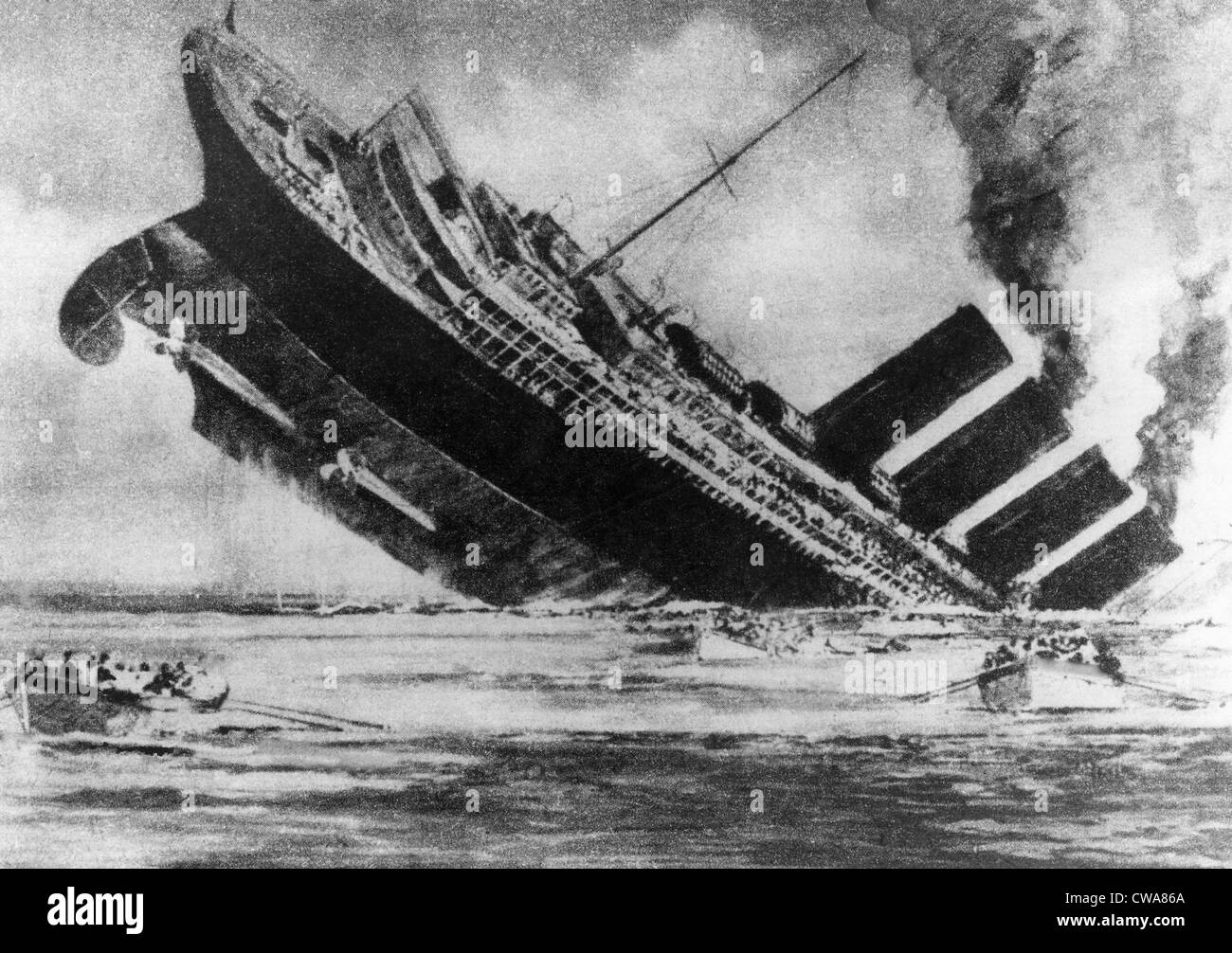 the lusitania On the afternoon of may 7, 1915, the british ocean liner lusitania is torpedoed without warning by a german submarine off the south coast of ireland within 20.