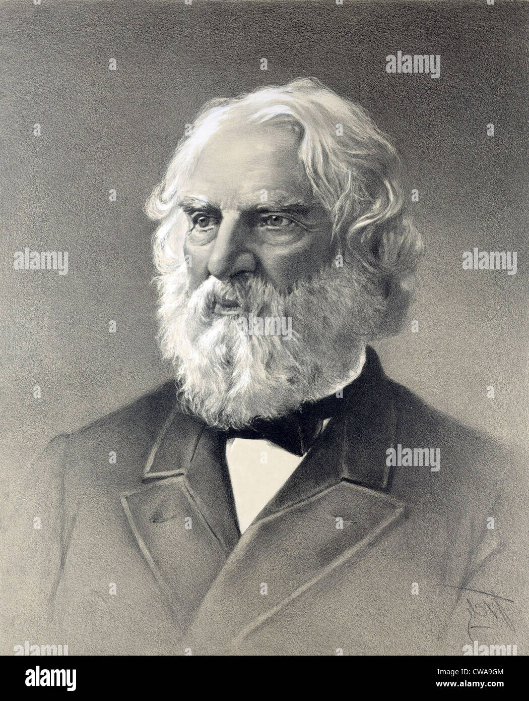 Henry Wadsworth Longfellow Created Epic Poems Stock 1807 1882 Evangeline