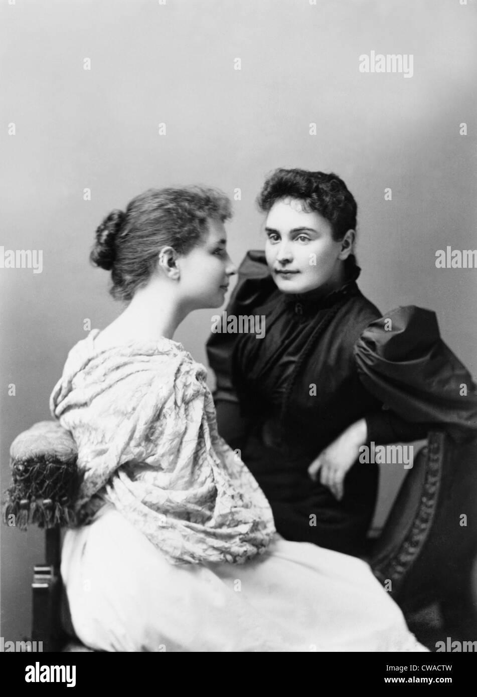Helen Keller (1880-1968) and her devoted teacher, Anne Sullivan ...