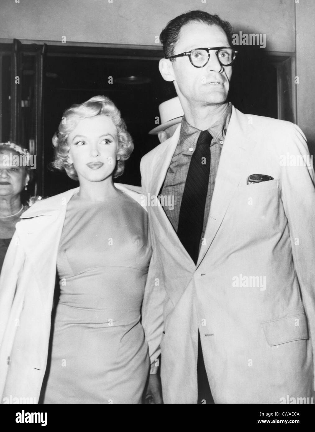 Tremendous Marilyn Monroe With Her New Husband Arthur Miller At A Press Stock Hairstyles For Men Maxibearus