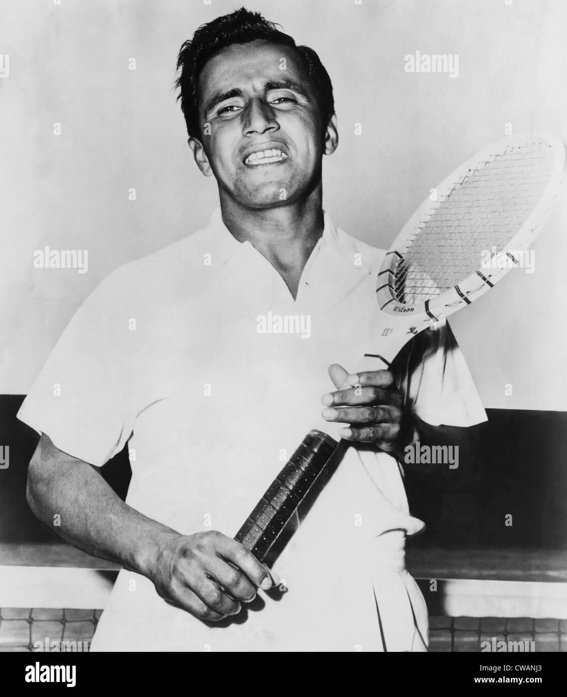 Pancho Segura Ecuadorian and American tennis player circa 1951