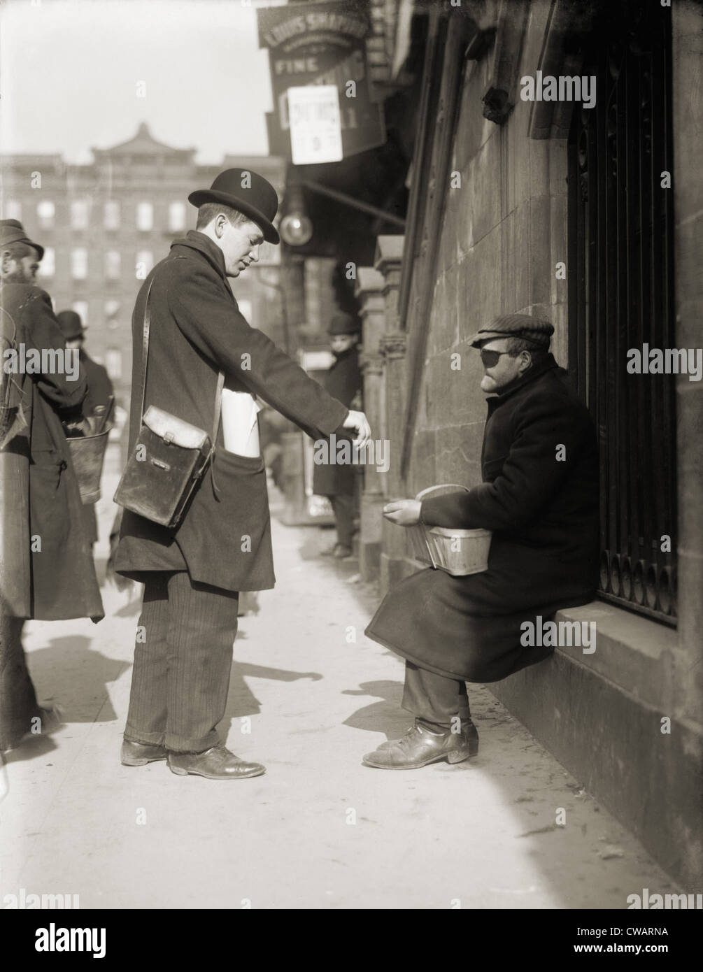 disfigured man begging on the street in new york city 1910 stock photo royalty free image. Black Bedroom Furniture Sets. Home Design Ideas