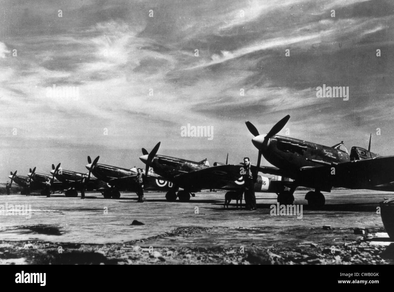 world war ii british spitfire planes during the battle of