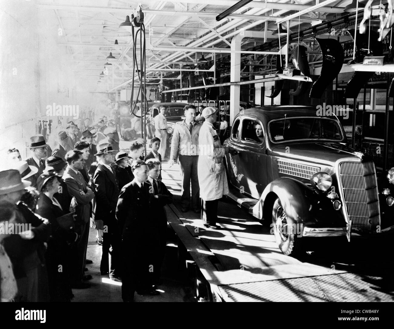 Ford Motor Company Long Beach Assembly Plant Los Angeles CA Finished Cars At The End Of Line Apr 24 1936