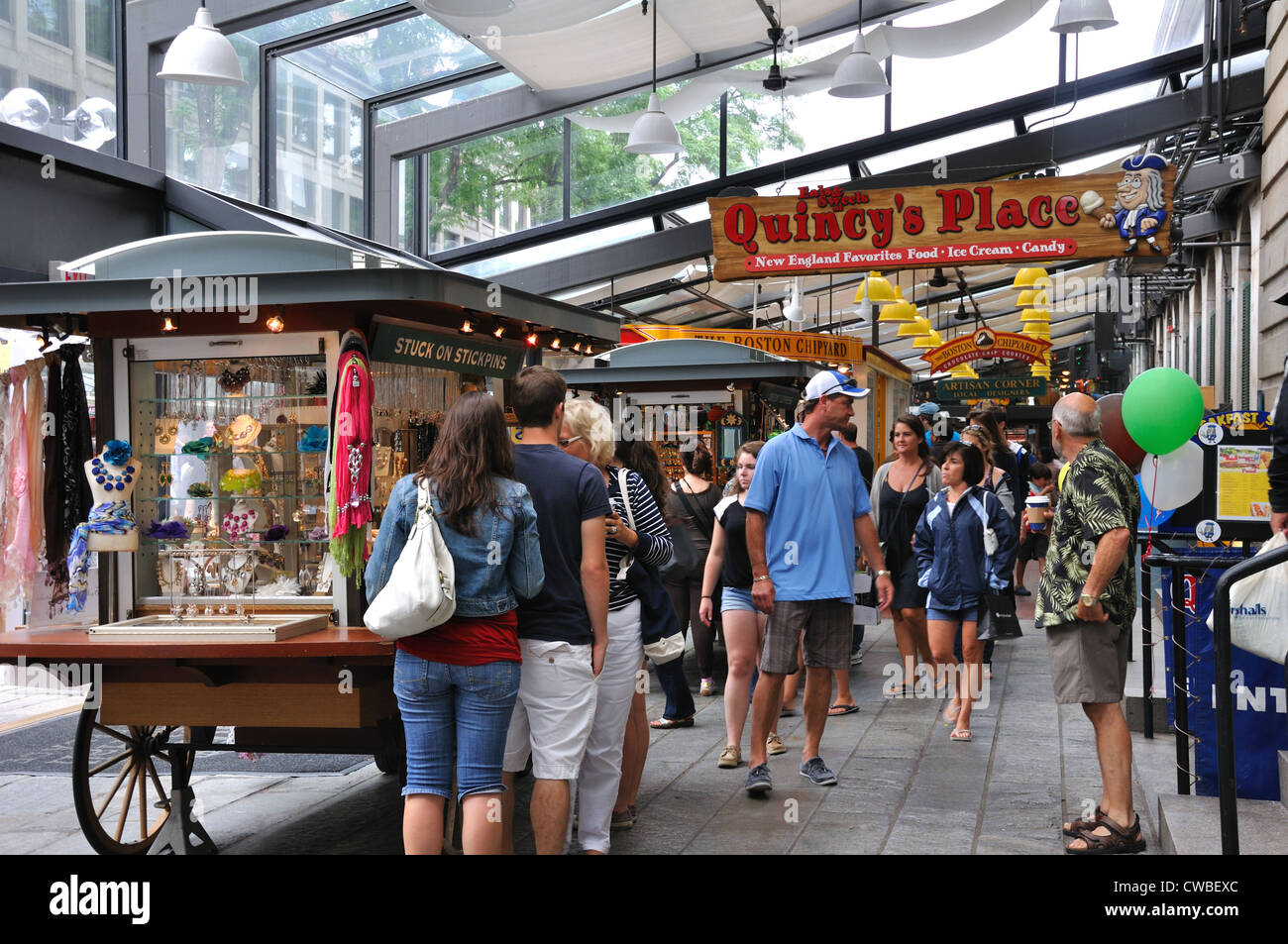 Quincy market food court in boston massachusetts usa for Fish stores in ma
