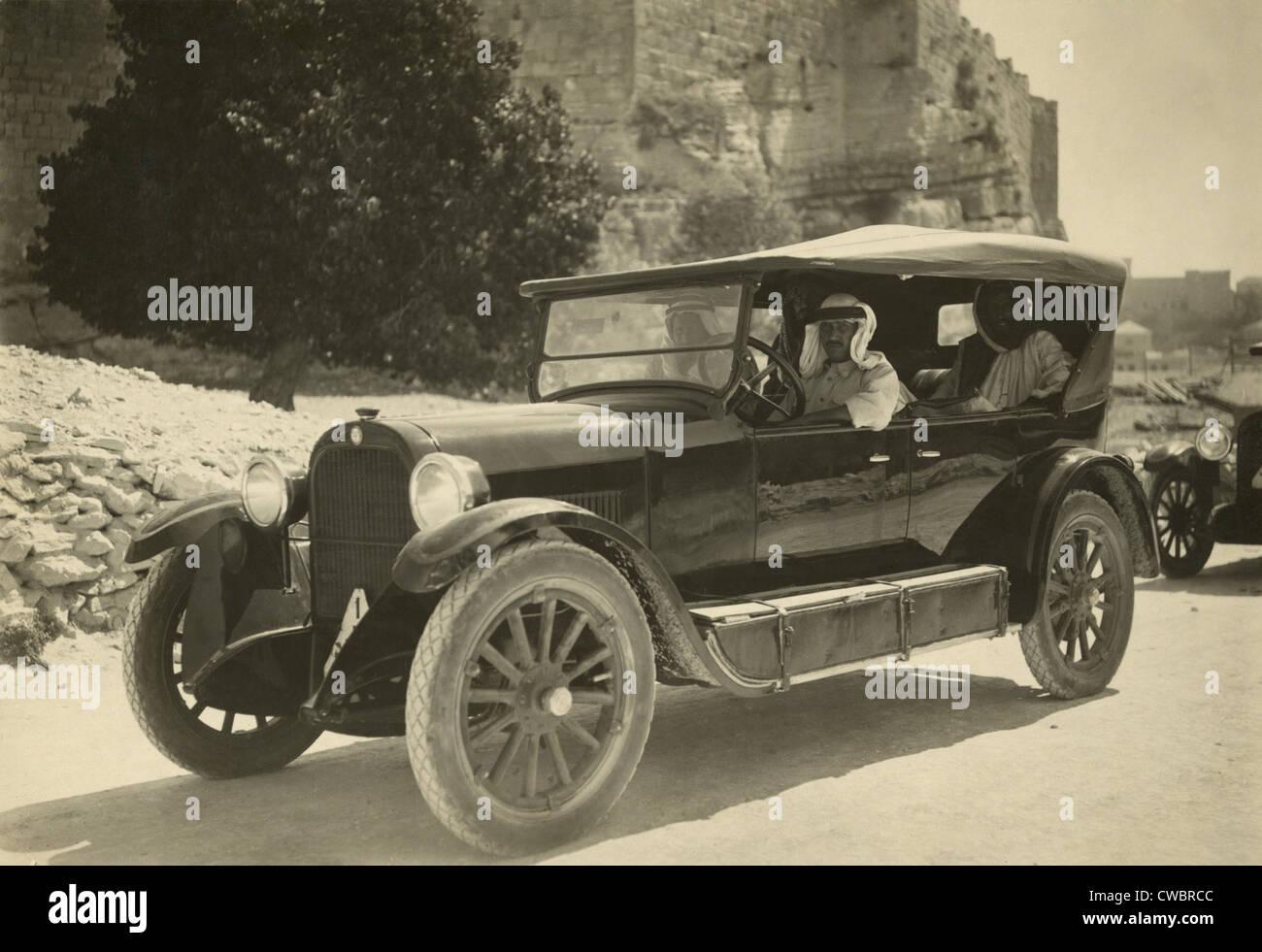 Arab men wearing traditional keffiyeh in a passenger car in the ...