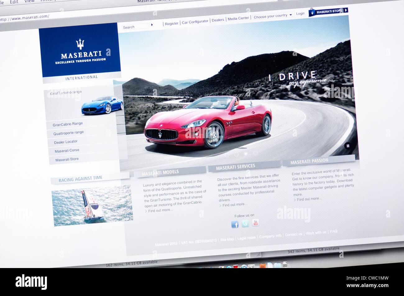 Maserati Website Sports Car Manufacturer Stock Photo Royalty - Maserati roadside assistance