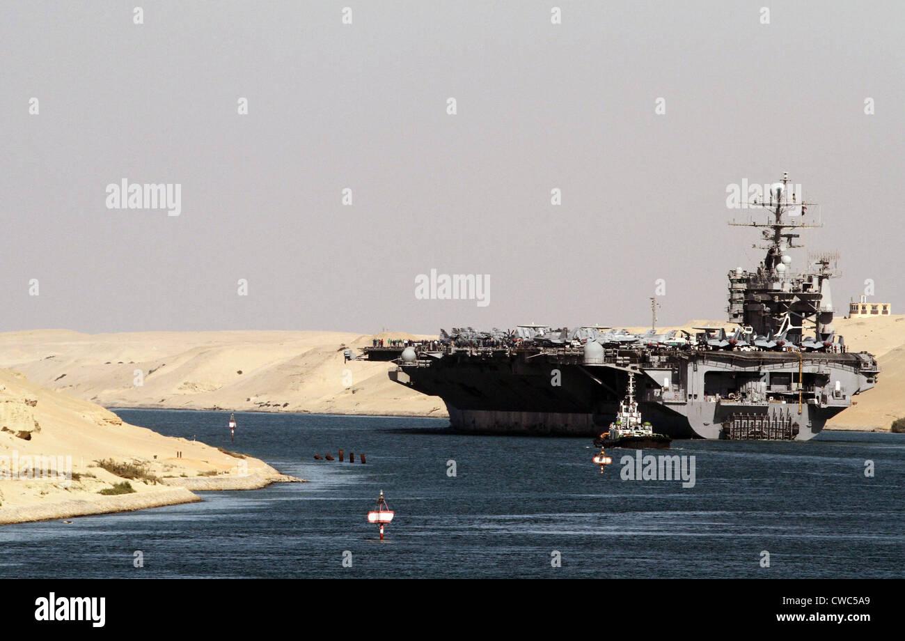 Aircraft carrier USS HARRY S TRUMAN passes