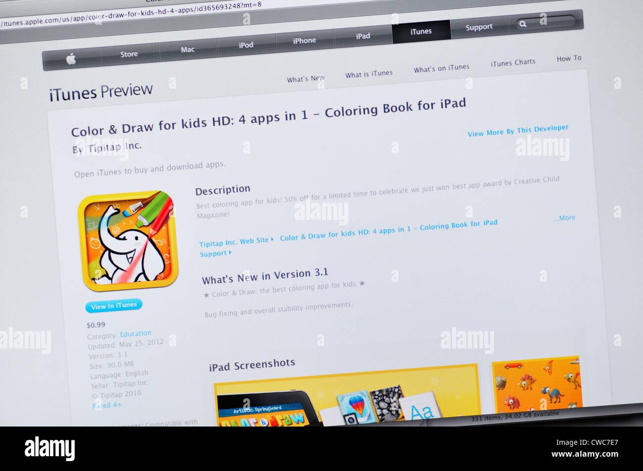Color Draw App Website