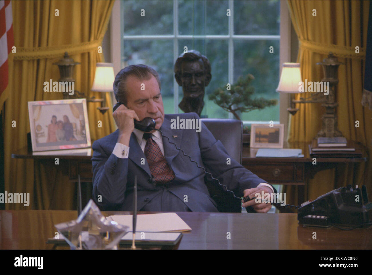 nixon office. Candid Photo Of Richard Nixon At His Desk In The Oval Office Was Taken During A Filming For 1972 GOP Convention. June 23 H