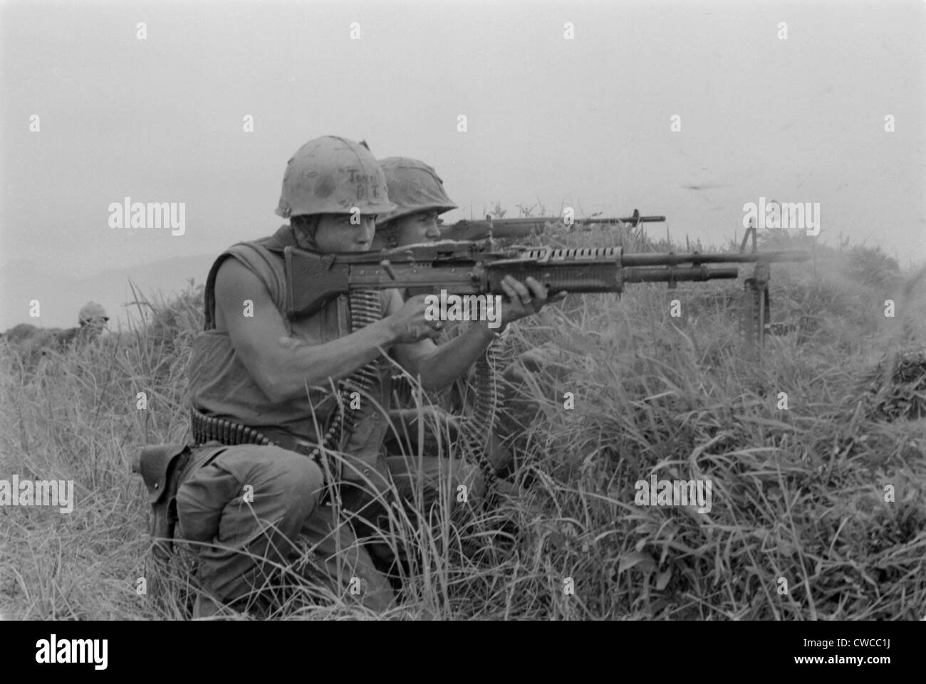 Vietnam war us marine machine gunner and rifleman fire at the vietnam war us marine machine gunner and rifleman fire at the enemy near the demilitarized zone in vietnam may 13 1967 sciox Image collections