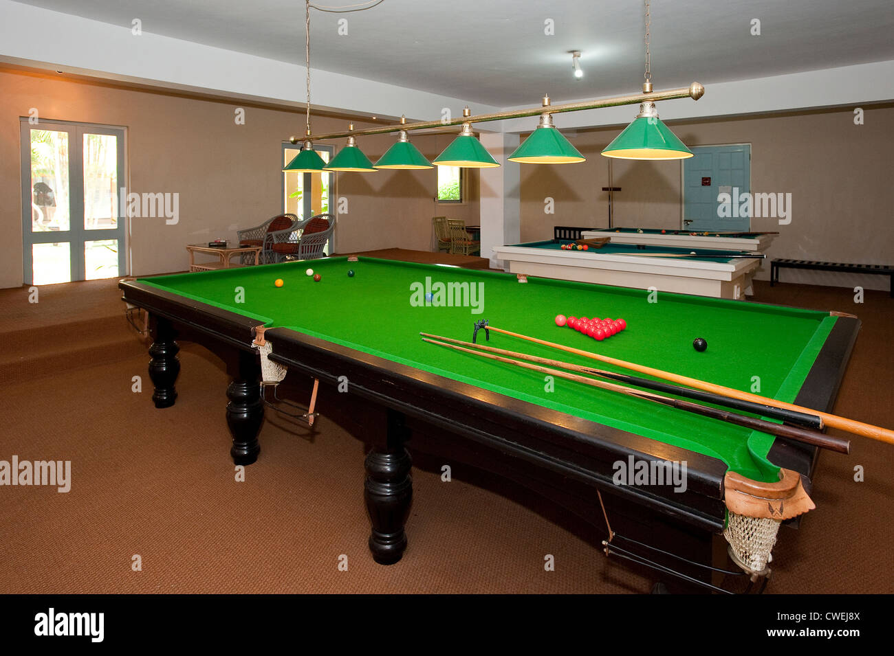 Full size Snooker Table at Club Palm Bay Hotel, Marawila, Sri ...