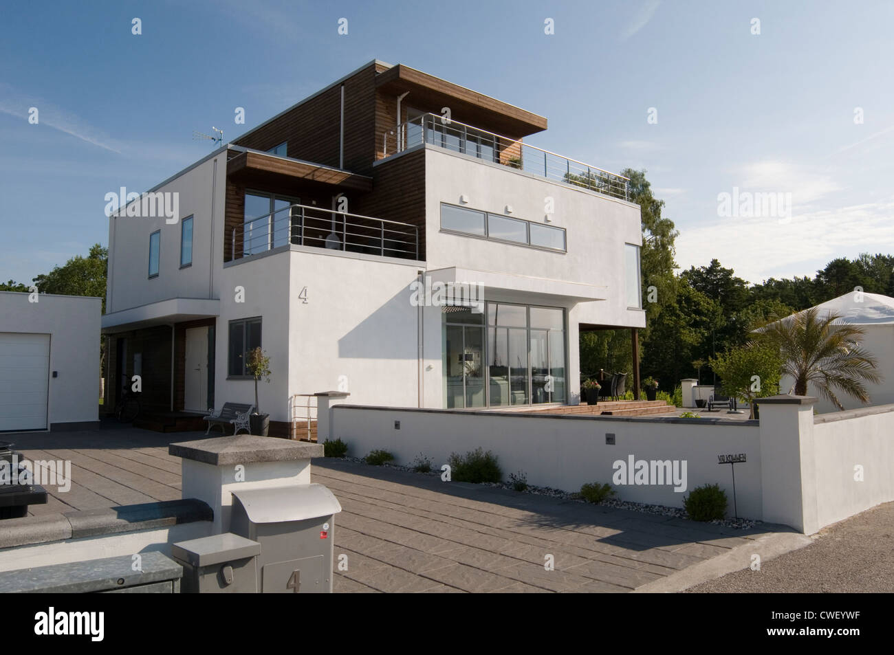 Modern Swedish House Houses Home Homes Minimalist Building Grand Stock Photo Royalty Free Image