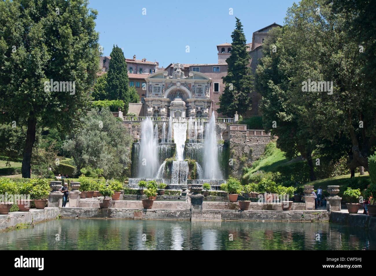 the renaissance gardens of the villa d 39 este tivoli near rome stock photo royalty free image. Black Bedroom Furniture Sets. Home Design Ideas