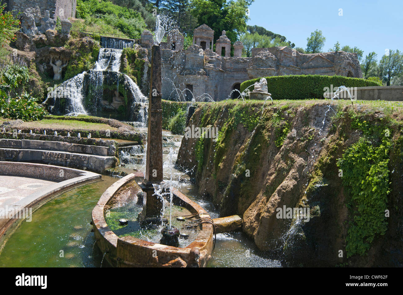 Tivoli gardens italy distance from rome garden ftempo for Olive garden fashion square mall