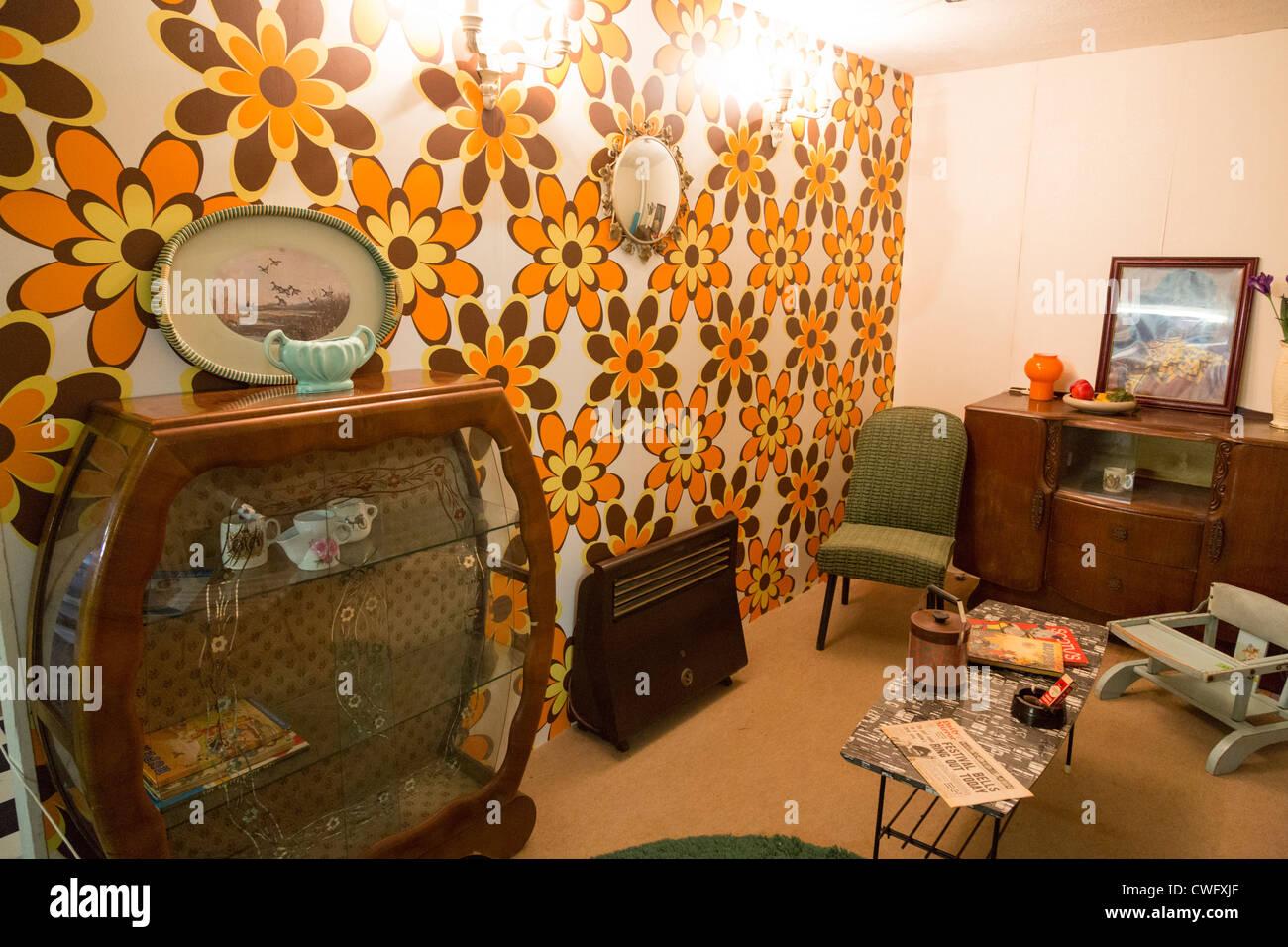 The Bubblecar Museum, Langrick, Boston, Lincolnshire. UK. 1950s Period  living room