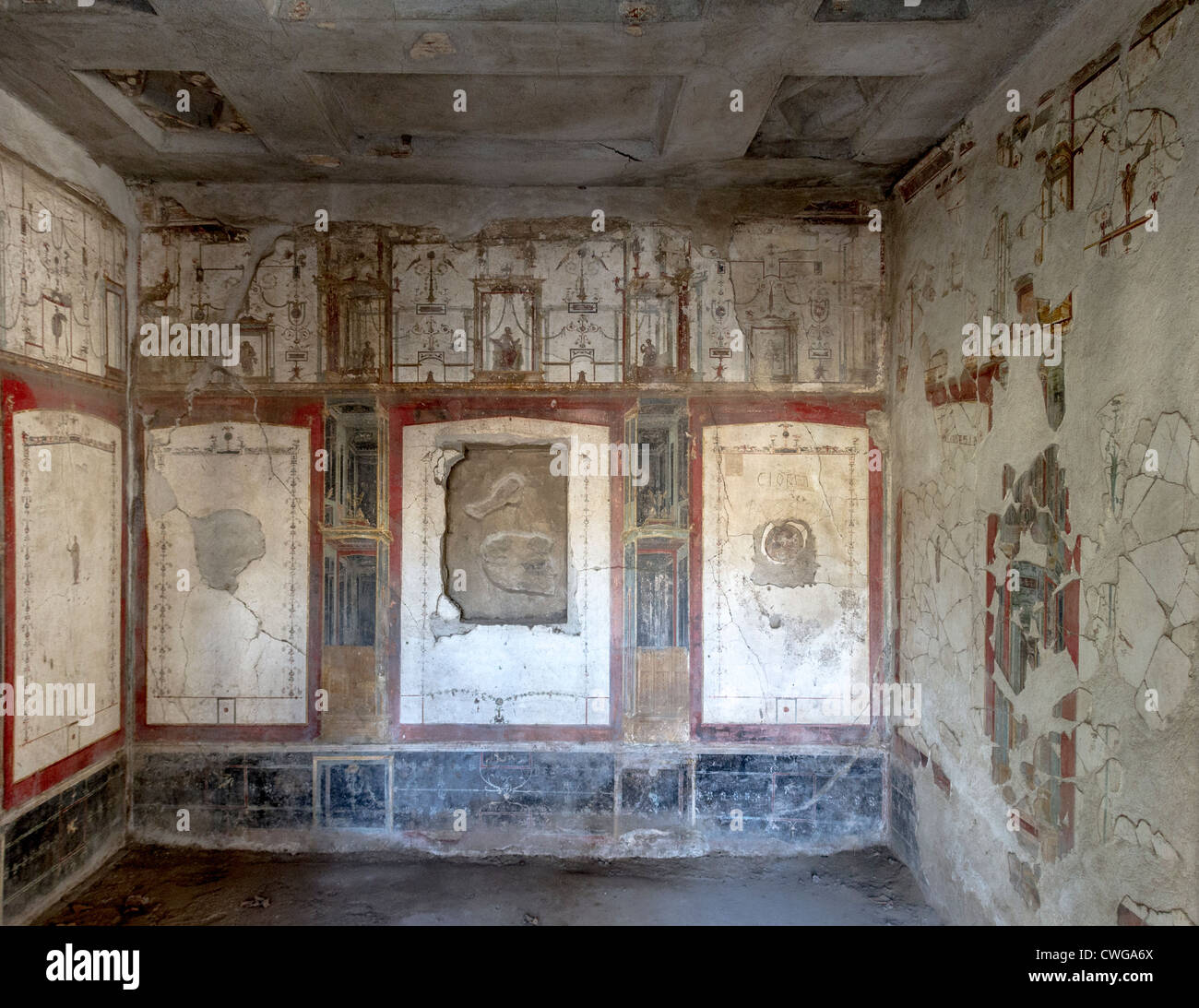 Ancient roman mural at the excavated city of pompeii for Ancient roman mural