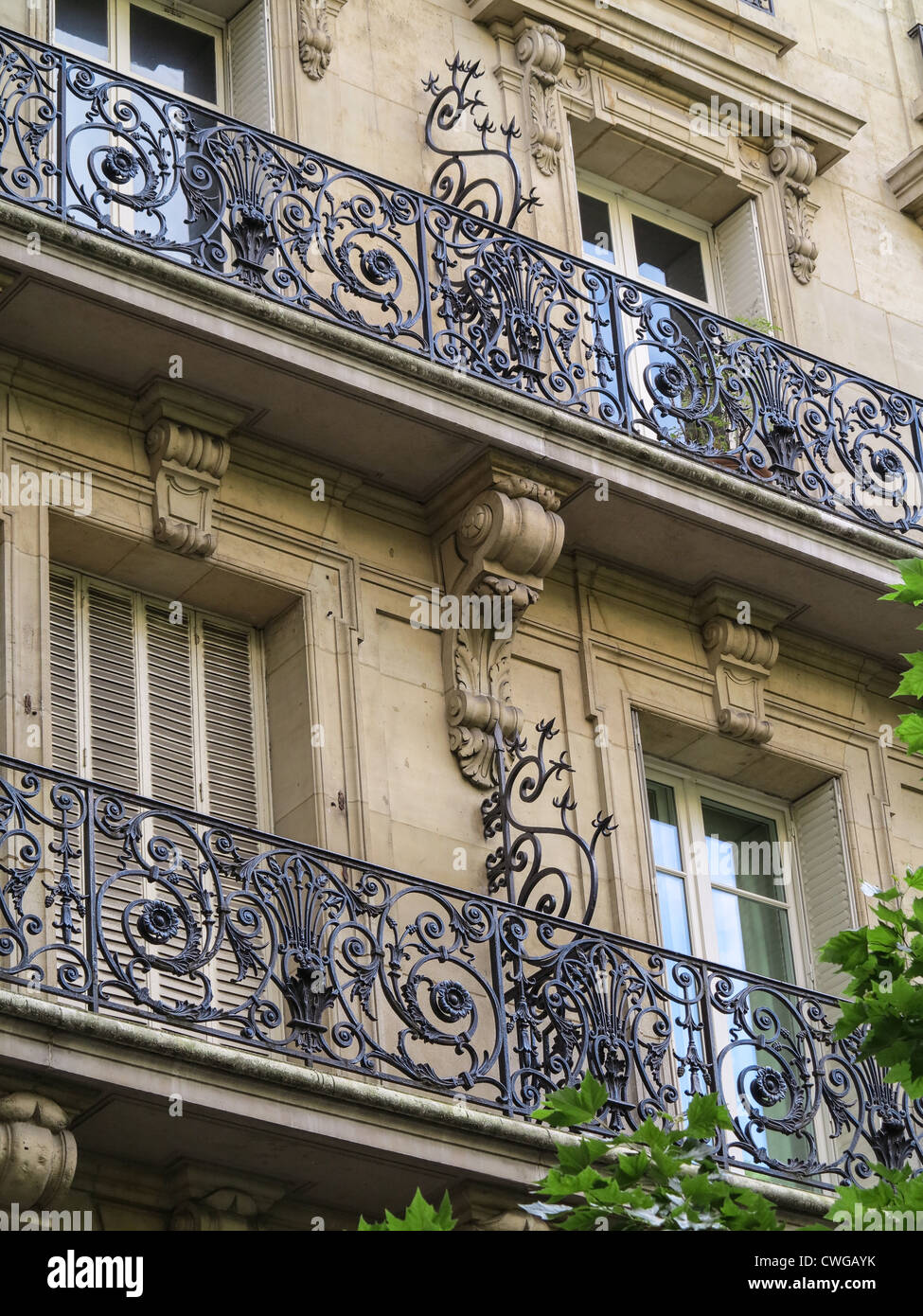 Wrought Iron Railings And Burglary Deterrents On Buildings