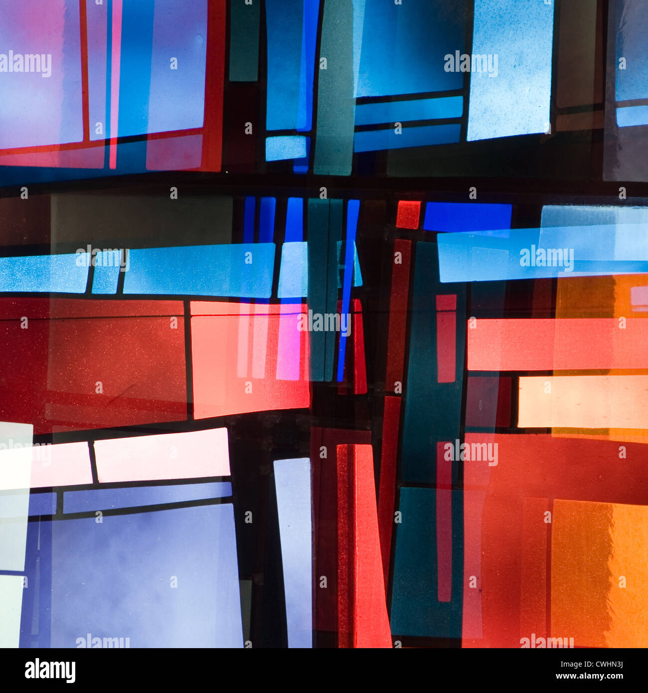 Modern Architecture Windows modern architecture,facade,stained-glass window stock photo