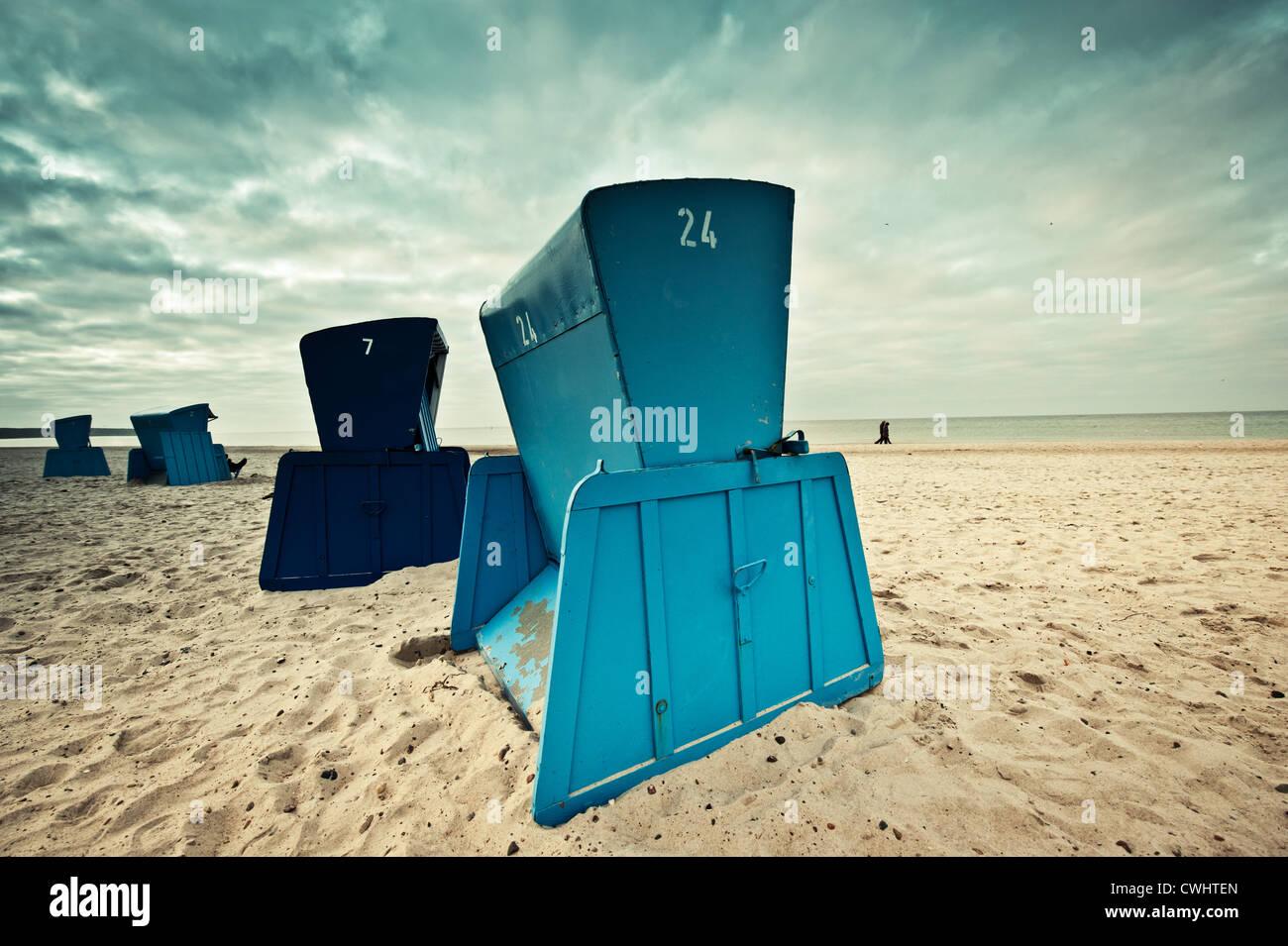 Beach Chair Baltic Sea Low Season Stock Photo Royalty