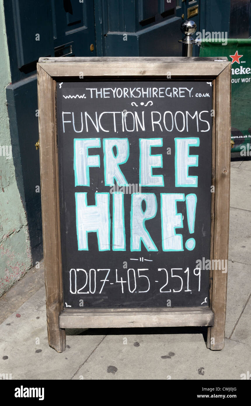 Function Room Free Hire London