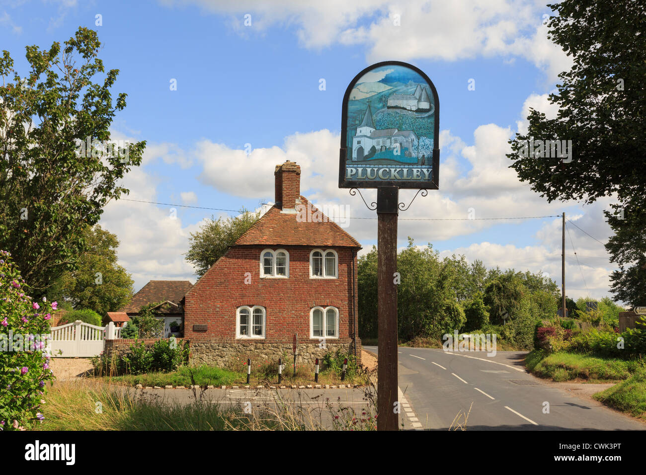 Place Name Sign By Tollgate House In Most Haunted English