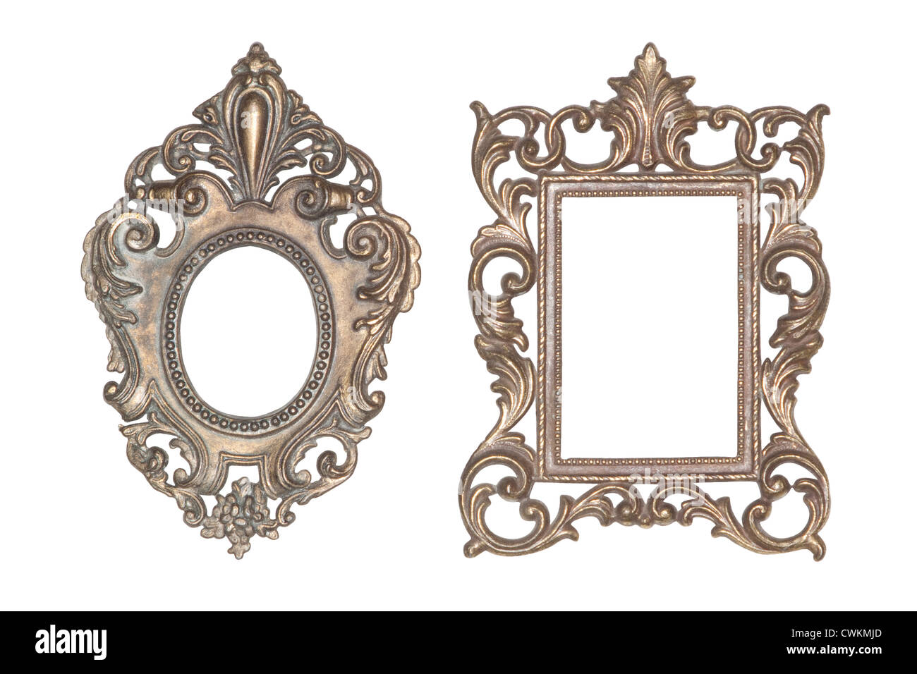 old antique little metal frames shabby chic - Metal Photo Frames