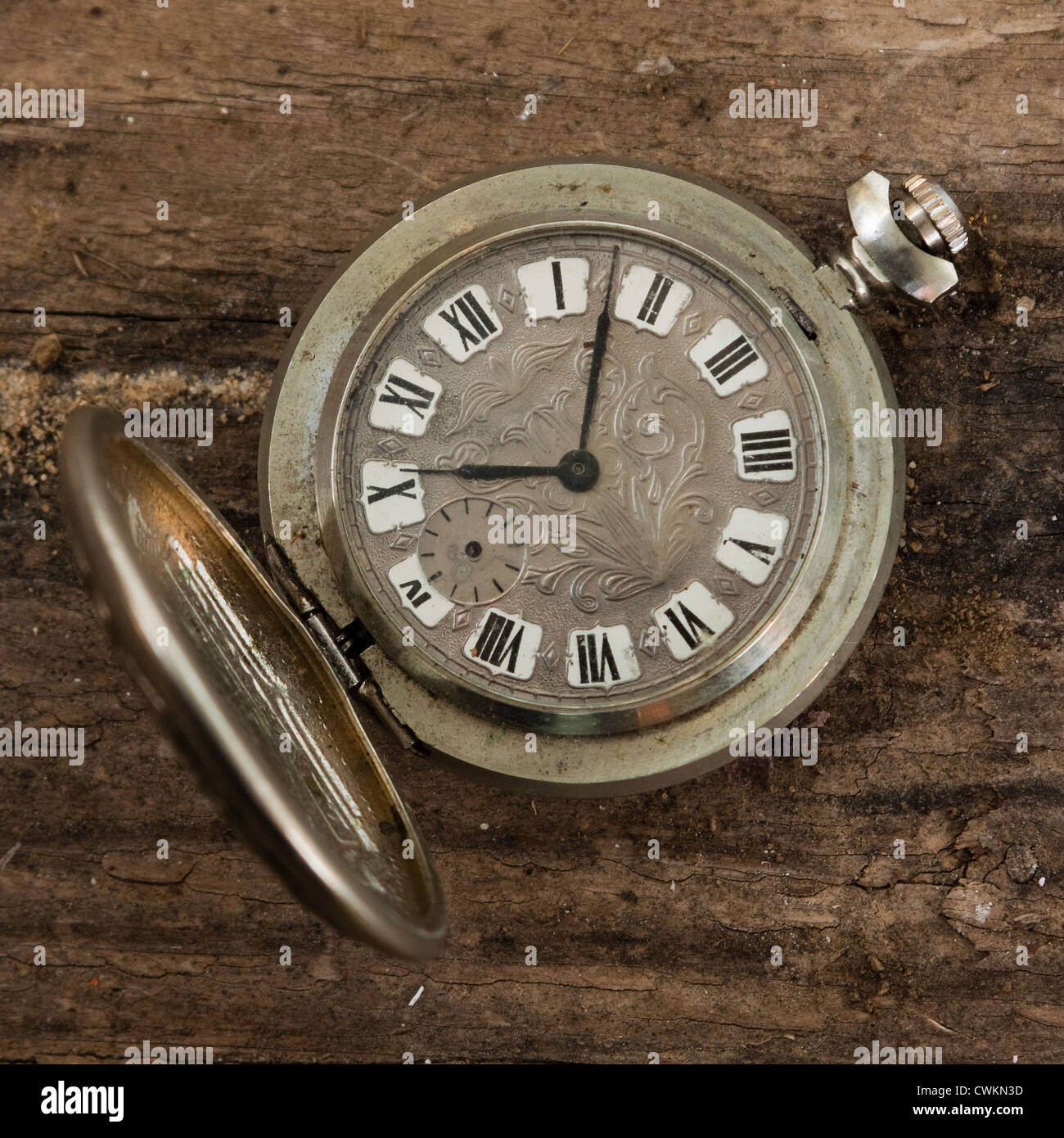 Antique pocket watch  antique pocket watch on a wooden background Stock Photo, Royalty ...