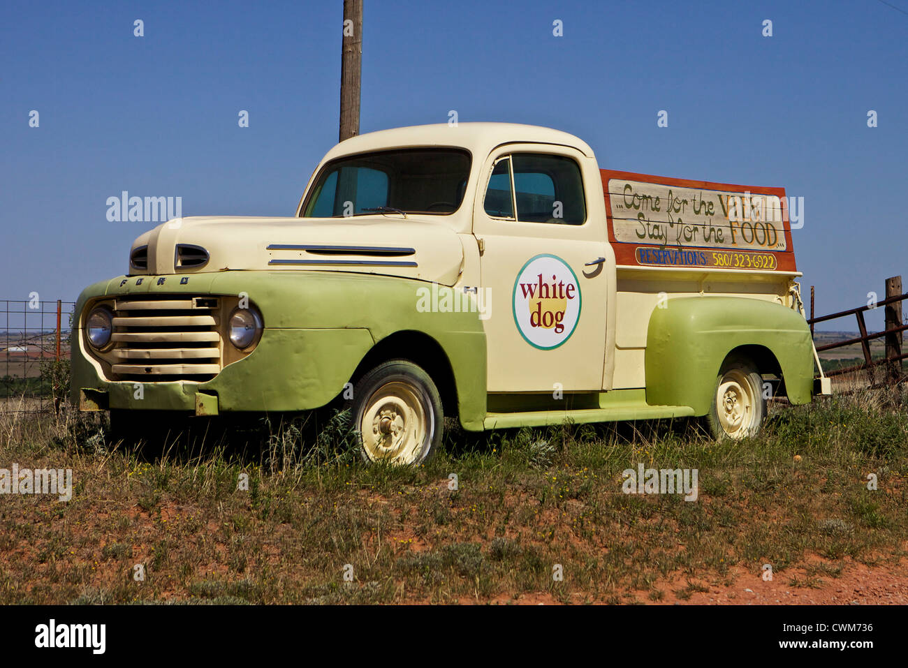 Old Ford F-1 pickup truck being used as advertising for the White ...