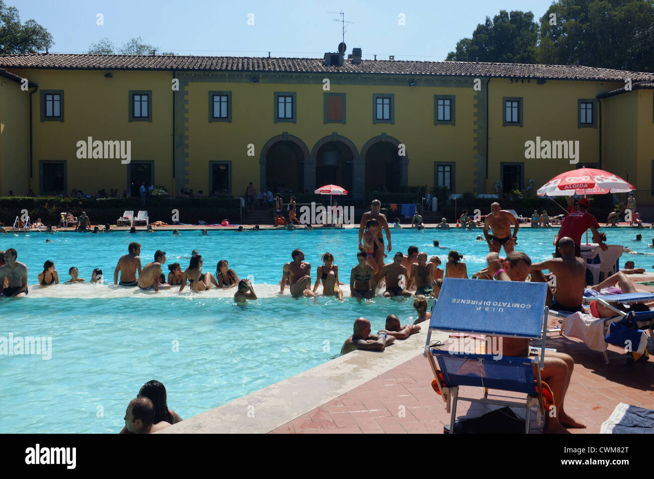 Le Pavoniere Public Swimming Pool In Florence Italy Stock Photo Royalty Free Image 50232528