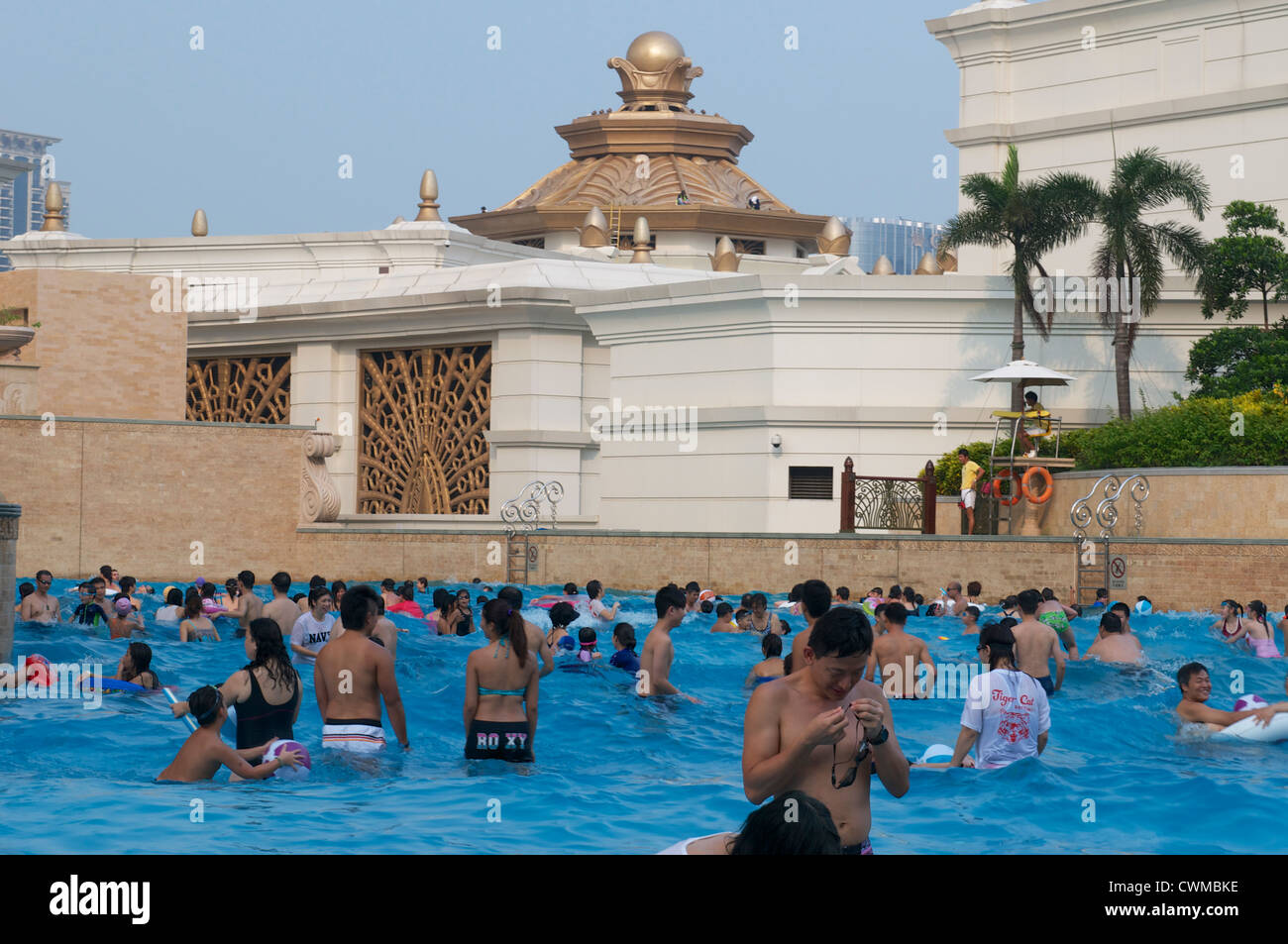 The Wave Pool At The Galaxy Hotel In Macau China Stock Photo Royalty Free Image 50235346 Alamy