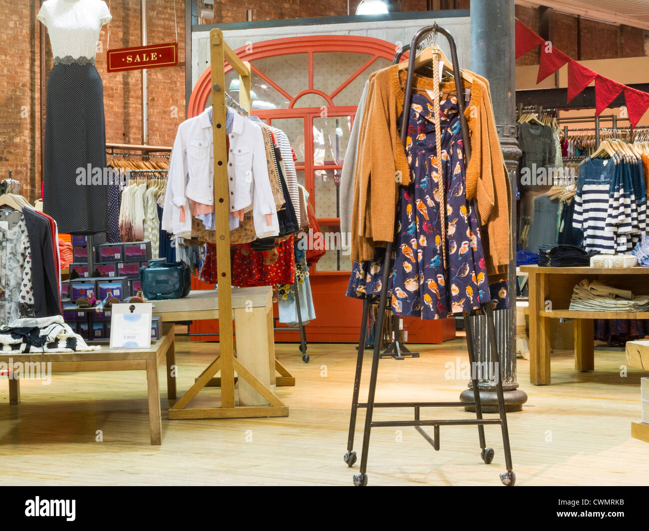 anthropologie store interior soho nyc stock photo
