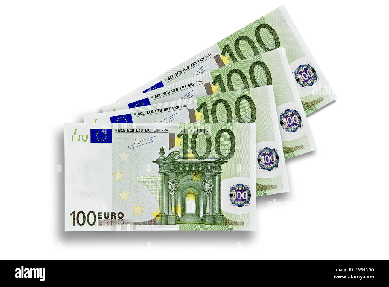 Four 100 euro banknotes 400 euros four hundred euro for Wohnlandschaft 400 euro