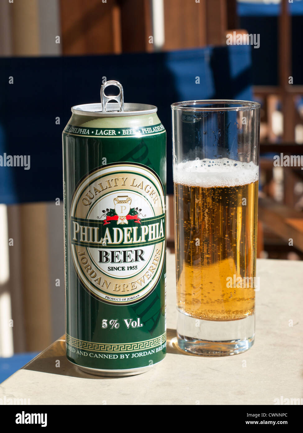 Jordanian beer named Philadelphia after the old name of  the capital which is now Amman Stock Photo