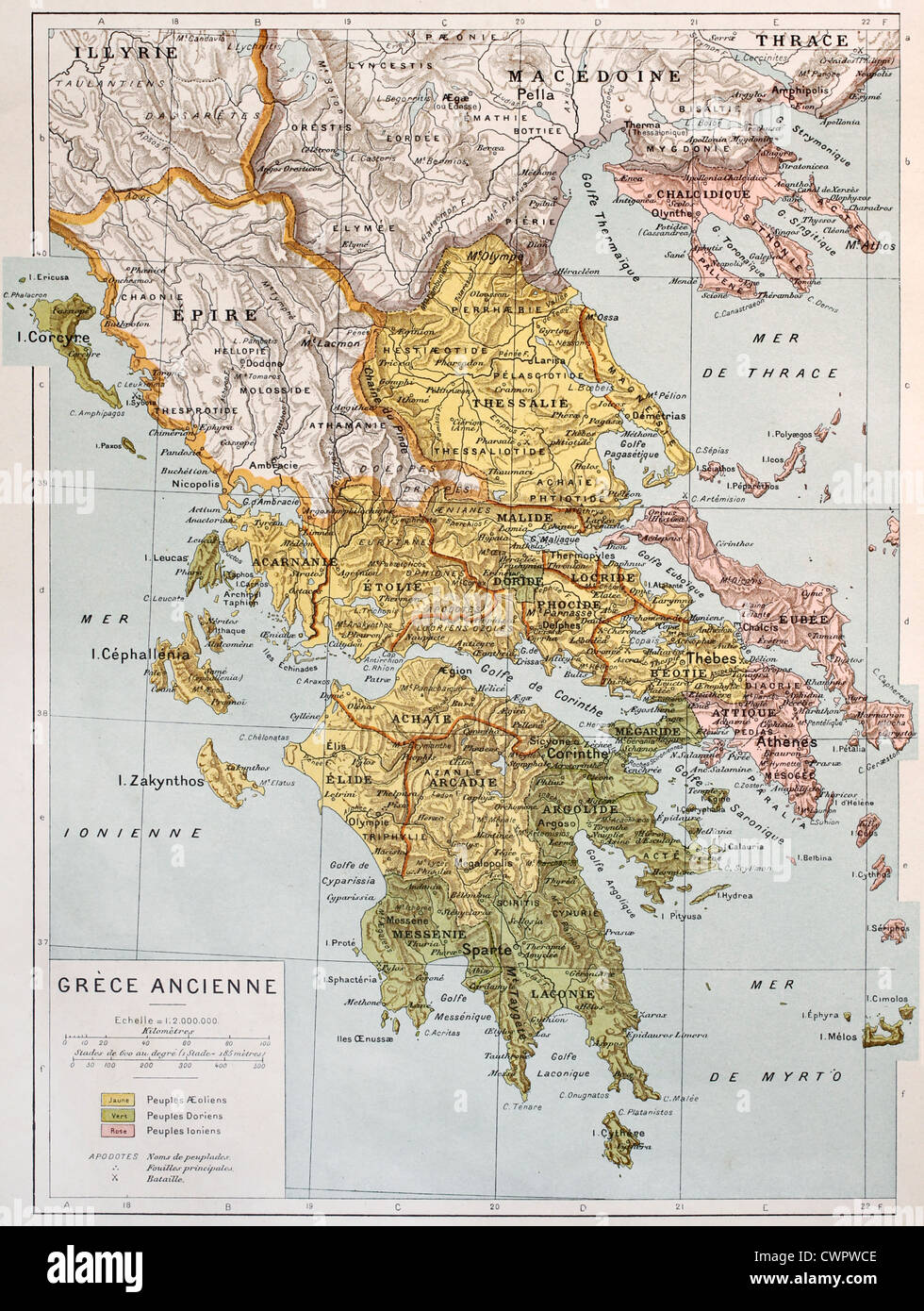 Old map of ancient greece stock photo royalty free image old map of ancient greece gumiabroncs Image collections
