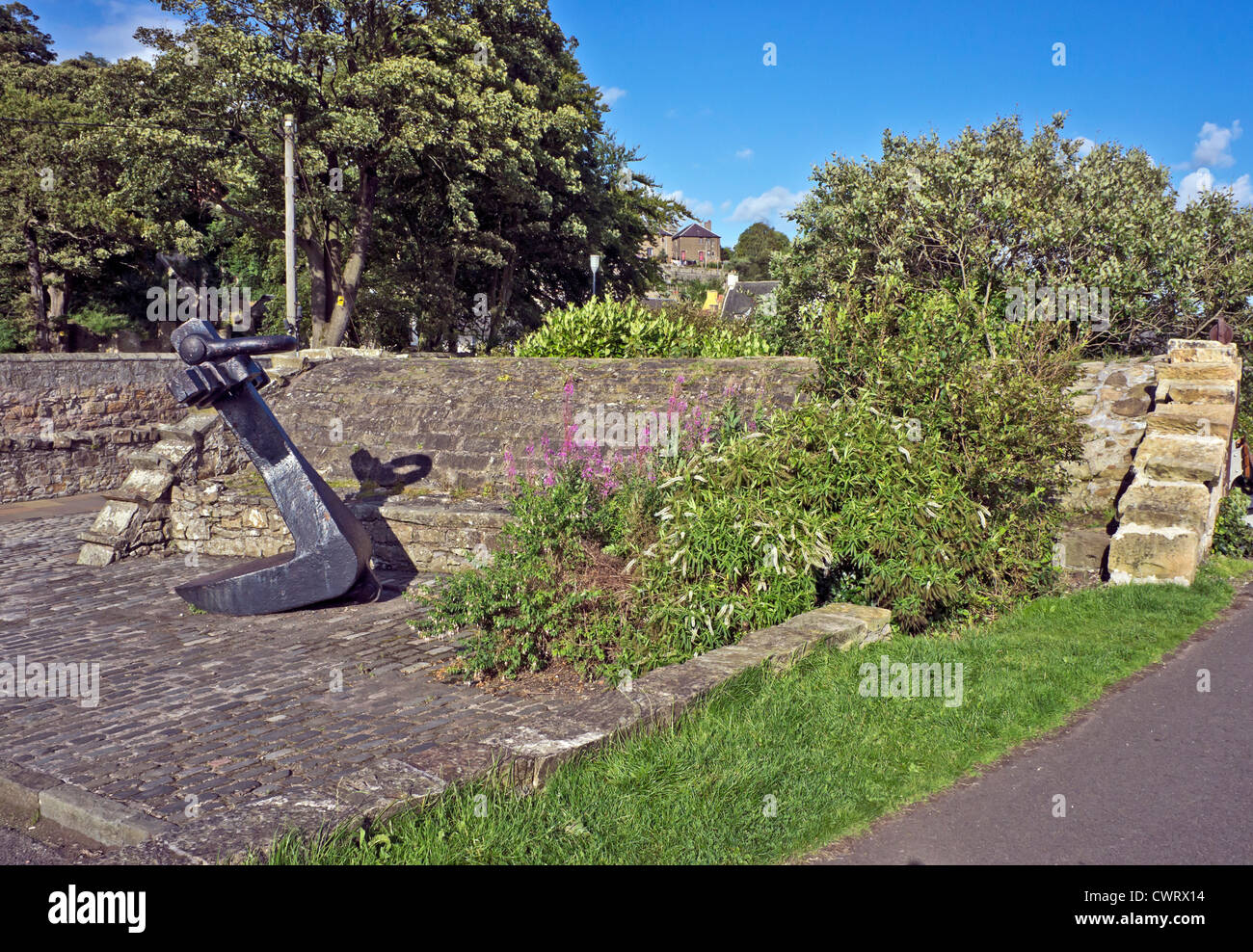 Preserved Ice House and anchor at Culross in Fife Scotland Stock ...