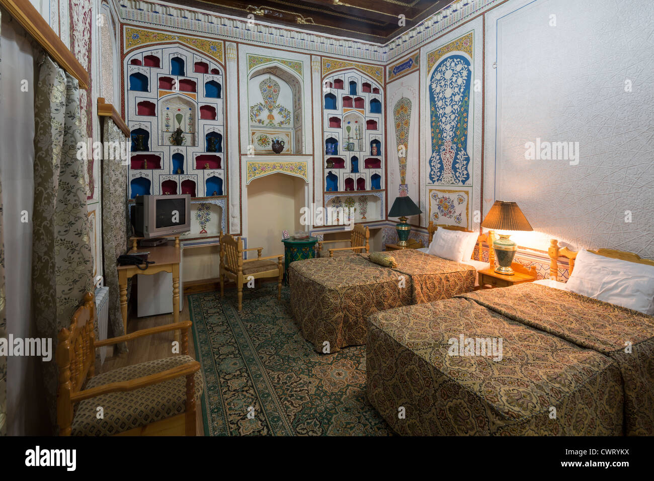 hotel bedroom in traditional style sasha and son hotel bukhara uzbekistan - Traditional Hotel Interior