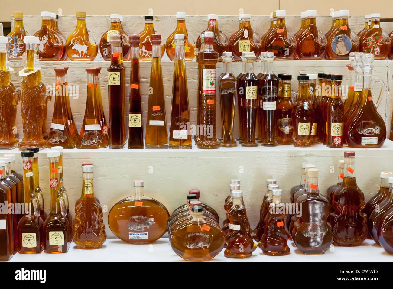 New york montgomery county fonda - Maple Syrup Display In Various Bottles Fonda Fair Montgomery County New York State